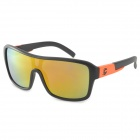 Oreka 2084 Männer stilvolle Outdoor-Cycling UV400 Sonnenbrille - Schwarz + Orange