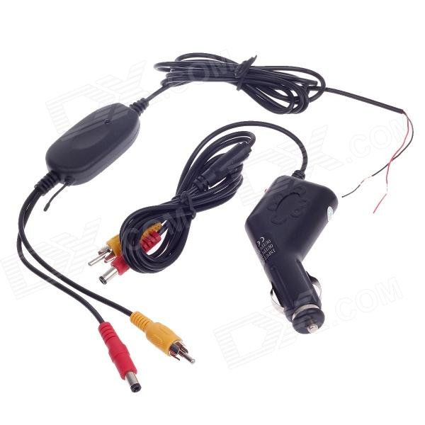 XY-6018 2.4G Wireless Transmitter for Car Camera+ Cigarette Lighter Adapter Receiver for Car Monitor