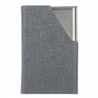 Stylish Portable PU Leather + Aluminum Alloy Magnet Business Card Case - Grey + Silver