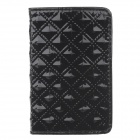 Stylish Portable PU Leather + Aluminum Alloy Magnet Business Card Case - Black