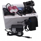SingFire SF-607B 2000lm 4-Mode Red Eagle Eye Bike Light Farol w / 2 x Cree XM-L T6 (4 x 18650)