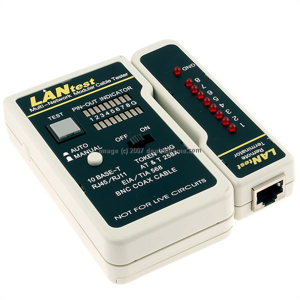 Multi Cable Tester : Lantest multi network modular cable tester free shipping