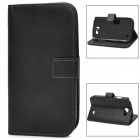 Protective PU Leather Flip Open Case for Samsung Galaxy Express i8730 - Black