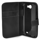 Protetora PU Leather Case Open flip para Samsung i8730 Galaxy Express - Preto