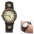 Simple Digital Retro Quartz Wrist Watch - Coffee + Black (1 x 377)