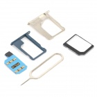 R-SIM 7+ Unlock SIM Card w/ SIM Card Adapters for Iphone 5/ 4S - Blue + Black