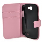 Protective PU Leather Flip Open Case for Samsung Galaxy Express i8730 - Pink