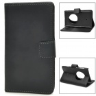 Protective PU Leather Flip Open Case for Nokia Lumia 1020 - Black