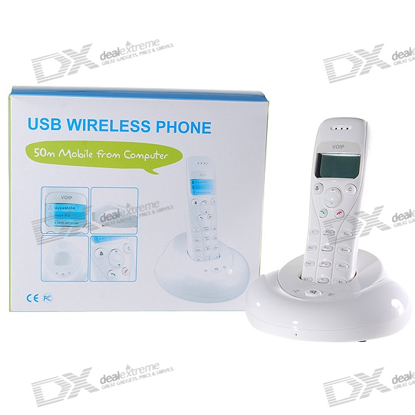 "1.4"" LCD 2.4GHz Wireless USB VoIP Skype Phone (50-Meter Wireless Range)"