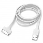 USAMS USB-Stecker auf Apple-30pin Male Charging & Data Sync-Kabel für iPhone 4 / 4S - Weiß (100cm)