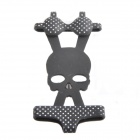 Skull Pattern + Cute Polka Dot Pattern Bikini  Style Silicone Adornment for Iphone - Black + White