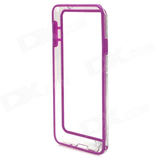 Protective Plastic Bumper Case for Samsung Galaxy Note 3 - Purple + Transparent metal ring holder combo phone bag luxury shockproof case for samsung galaxy note 8