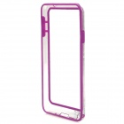 Protective Plastic Bumper Case for Samsung Galaxy Note 3 - Purple + Transparent