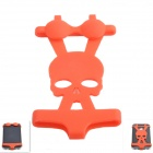 Creative Skull Pattern Bikini Style Silicone Adornment for Iphone - Red