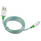 Luminous USB Male to Lightning Male Charging Data Cable for iPhone 5 / 5c / 5s - Light Green (93cm)