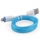Luminous USB Male to Lightning Male Charging Data Cable for iPhone 5 / 5c / 5s - Light Blue (93cm)