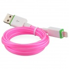 Luminous USB Male to Lightning Male Charging Data Sync Cable for iPhone5 / 5c / 5s - Pink (93cm)