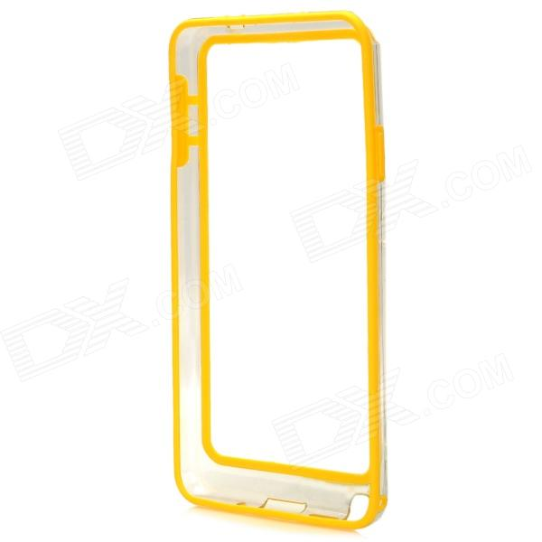 Protective Plastic Bumper Case for Samsung Galaxy Note 3 - Yellow + Transparent metal ring holder combo phone bag luxury shockproof case for samsung galaxy note 8