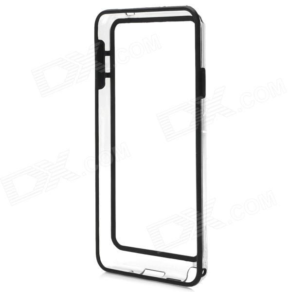 Protective Silicone Bumper Frame for Samsung Galaxy Note3 - Black + Transparent