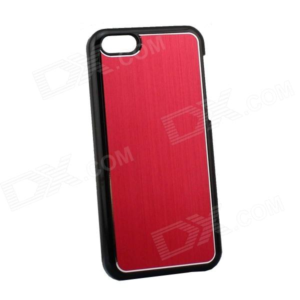Protective Electroplated Brushed Aluminum Back Case for Iphone 5C - Red