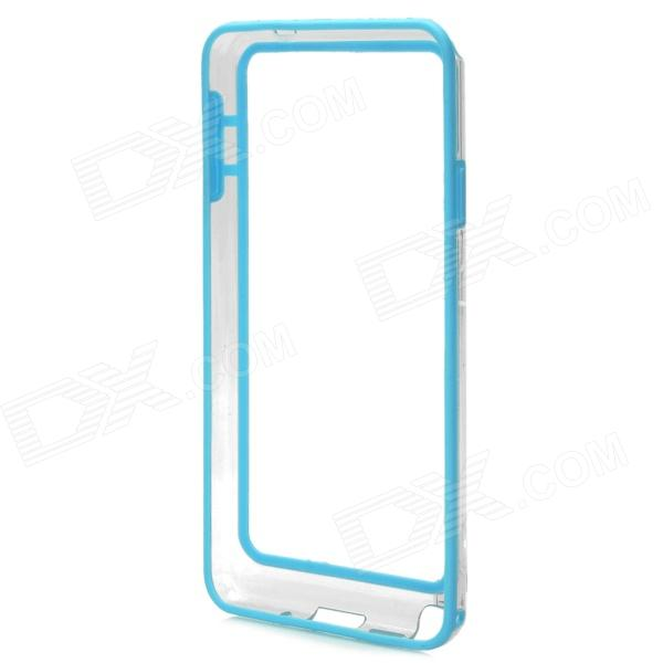 Protective Plastic Bumper Frame for Samsung Galaxy Note3 - Blue + Transparent high quality plastic protective bumper frame for samsung galaxy s5 purple