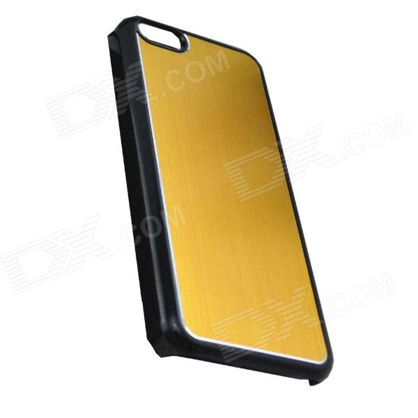 Protective Electroplated Brushed Aluminum Back Case for Iphone 5C - Golden
