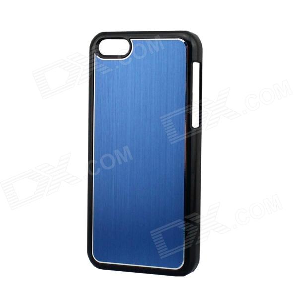 Protective Electroplated Brushed Aluminum Back Case for Iphone 5C - Blue