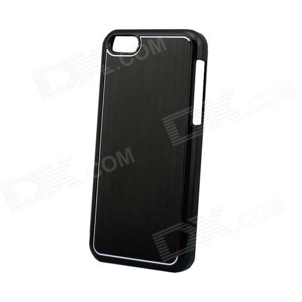 Protective Electroplated Brushed Aluminum Back Case for Iphone 5C - Black