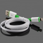 Luminous USB Male to Lightning Male Charging Data Cable for iPhone 5 / 5c / 5s - White +Green (93cm)