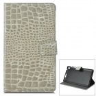 Y7-2-6H Protective 2-Fold PU Leather Case for Google Nexus 7 - Light Grey