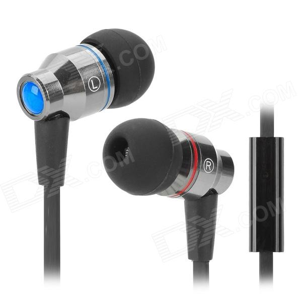 AWEI TE800i In-Ear Earphone w/ Microphone - Grey + Black чайники эл philips hd 9302 21