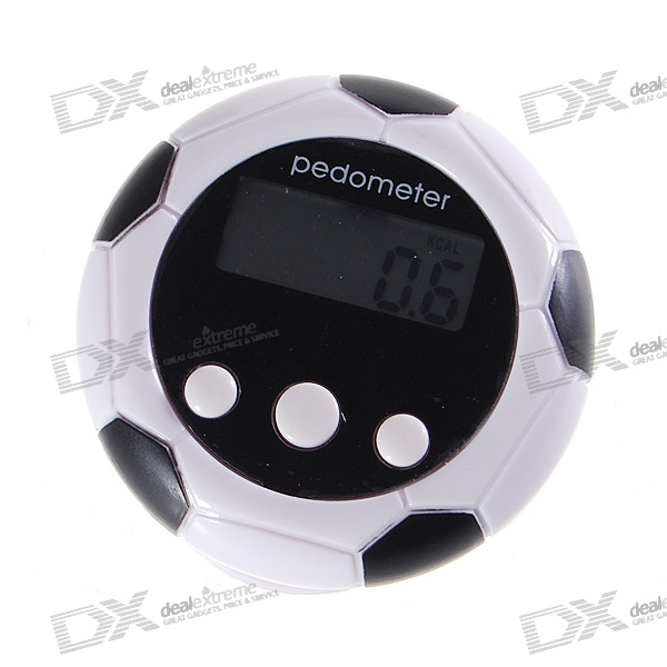 "0.9"" LCD Football Shape Clip-on Pedometer with Time/Distance/Calories"