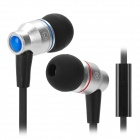 AWEI TE800i In-Ear Earphone w/ Microphone - Silvery White + Black