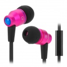 AWEI TE800i In-Ear Earphone w/ Microphone - Deep Pink + Black