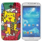 Protective Scrawl Pattern Plastic Back Case for Samsung Galaxy S4 i9500 - Multicolor