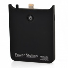 Portable 8-pin Lightning 1500mAh Power Bank for iPhone5 / 5s / 5c - Black