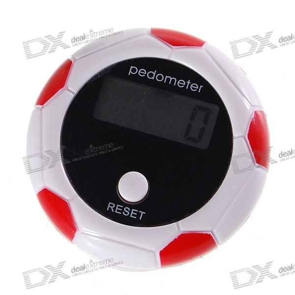"0.9"" LCD Football Shape Clip-on Pedometer"