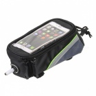 "ROSWHEEL Portable Nylon Bike Top Tube Case Bag for 4.2"" Cellphones - Black"