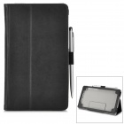 Protective PU Leather Holder Case w/ Stylus / Card Slots for Google Nexus 7 II - Black