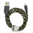 Lidu USB Male to Micro USB Male Extension Charging Strong Cable for Samsung - Black  (100 CM)