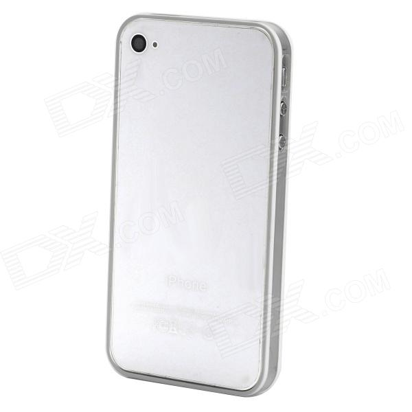 Protective Bumper Frame for Iphone 4/4S - White + Transparent