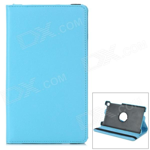 Protective PU Leather Case for Google Nexus 7 - Light Blue lichee pattern protective 2 fold pu leather case for google nexus 7 generation ii