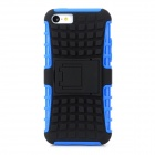 Protective Plastic Combination Back Case w/ Stand for Iphone 5C - Black + Blue