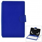 "Waterproof 80-Key Wired Keyboard Case w/ Stylus for 7"" Tablet PC - Deep Blue"