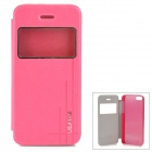 USAMS Protective PU Leather Flip Open Case for Iphone 5 / 5S - Deep Pink