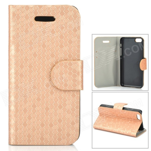 Stylish Protective PU Leather Case for Iphone 5C - Golden stylish protective pu leather case for iphone 5c white transparent black