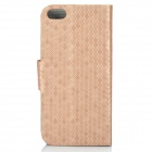 Stylish Protective PU Leather Case for Iphone 5C - Golden