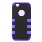 Protective 3-in-1 Assembly Plastic Case for Iphone 5C -Black + Purple