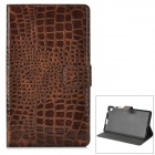 Snakeskin Pattern Protectve 2-Fold PU Leather Case for Google Nexus 7 II - Coffee