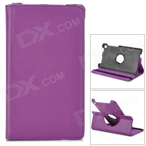 Protective Rotation PU Leather Case for Google Nexus 7 - Purple protective rotation pu leather case for google nexus 7 purple